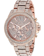 MICHAEL KORS MK6452 WREN Rose Gold Crystal Pave Glitz Women's Watch
