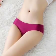 Multi Pack (3 Piece)Women's ice silk seamless no trace briefs underwear knickers