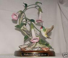 HOMCO Classic Porcelain Nature's Winged Jewel Base '90 Hummingbird Bird Figurine