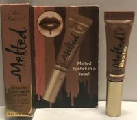Too Faced Melted Chocolate Liquified Long Wear Lipstick Chocolate Honey New