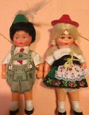 Vintage Western Germany Boy Girl Troll Toy Figurines Set