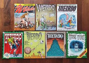 Lot of 7 x Weirdo comics-Robert Crumb, Last Gasp Comics. Undergound comix/Zap