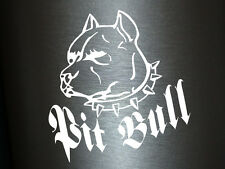 1 x 2 Plott Aufkleber Pit Bull Hund Dogge Pitbull Dog Sticker Tuning Static Fun