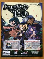 A Witch's Tale Nintendo DS 2009 Vintage Poster Ad Print Art Anime Manga RARE HTF