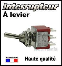 937R# interrupteur à levier 2 circuits 3 positions ON - OFF - ON  <> 1 à 25pcs