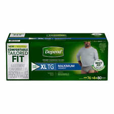 Depend FIT-FLEX Max Absorbency Underwear for Men Extra Large = 80 Count