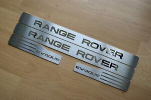 "RANGE ROVER EVOQUE ""CHROME"" DOOR SILL TREAD PLATES FULL SET OF 4"