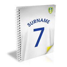 Personalizzato Leeds United FC Camicia Taccuino Blocco Note A5 REGALO DI NATALE CALCIO