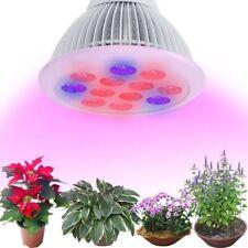 Sandalwood LED Plant Grow Light Bulb Hydroponic Garden Veg Flower 12W E26 E27