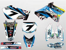 KIT ADESIVI GRAFICHE GAMBLING BLACK SUZUKI RM 125 250 2003 - 2008 DEKOR DECALS