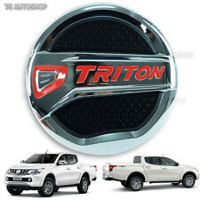 For Mitsubishi Triton L200 MQ 4 Door Truck Chrome Fuel Oil Tank Cap Cover 16 17