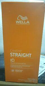 WELLA WELLASTRAIGHT Permanent Straight Hair Straightening Pack 100+100ml + F.S.W