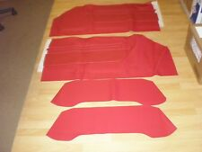 73-89 MERCEDES R107 350SL 380SL 450SL 560SL ~ NEW RED VINYL DOOR PANEL COVER KIT