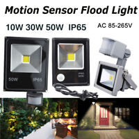LED Flood Light Garden Liughting 110V 220V 10W30W50W Motion Sensor PIR Spot Lamp