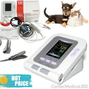 Veterinary Blood Pressure Monitor Tongue SPO2 Sensor NIBP Pulse Rate Software