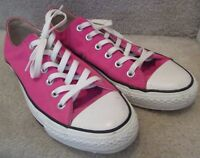 Converse CT All Stars Hot Pink Sneakers Size 8 Men 10 Women Style 1S207