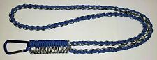 SAWTOOTH DIAMOND BRAID PARACORD SURVIVAL NECK LANYARD - YOU CHOOSE THE COLOR/S