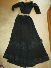 Antique Victorian Ladies Handmade Long Skirt & Top