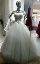 Designer Quality Ivory Embellished Wedding Gown