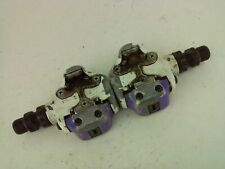 Shimano PD A525 SPD Clipless Road Pedals Purple and White