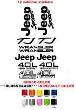 Jeep Wrangler Sport 4.0 high output STICKERS DECALS KIT YJ TJ (#222)