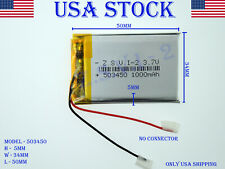 3.7V 1000mAh 503450 Lithium Polymer LiPo Rechargeable Battery (USA STOCK)