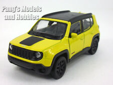 4.5 inch Jeep Renegade Trailhawk Scale Diecast Model by Welly - Yellow