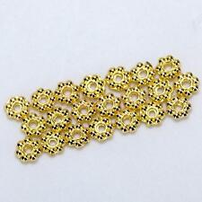 100 Gold metal Daisy Flower Spacers Beads charms findings Jewelry making 4mm