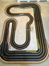 Scalextric Digital 4 Lane Layout with Chicanes / Hairpins & 4 Digital Cars