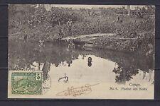 1904 French Congo Scott 38 on card Mayumba (Gabon)-Austin by ship (NTT Loango)