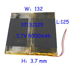 3.7 V 8000 mAh 37132125 Polymère Li Batterie Li-po Pour DVD PAD MID GPS PSP Tablet PC