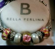 Bella Perlina Charm Bracelet ** Lovely **             New In Box and Never Worn