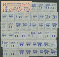 Lot of WWII Ration Stamps & Booklet, Overprinted Comm. of Pennsylvania