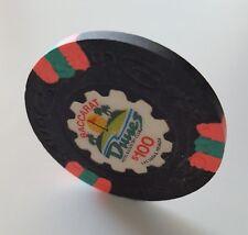 $100 Las Vegas Dunes BACCARAT Casino Chip - Uncirculated
