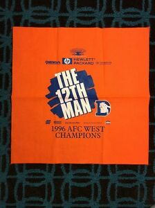 """Denver Broncos """"The 12th Man"""" Play-Off Rally Towel 1996 AFC West Champions"""