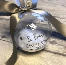 PERSONALISED FAMILY CHRISTMAS TREE BAUBLE, Mummy Daddy Bump Pregnancy Gift