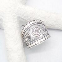 Bali Ornament Hippie Indien Design Ring Ø 17,0 18,0 mm 925 Sterling Silber neu