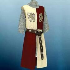 Halloween Costume MEDIEVAL KNIGHT Tunic Surcoat Crusader Renaissance LARP