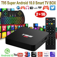 T95 Super Android 10.0 OS 2+16G 4K UHD Keyboard H9 TV BOX Quad Core WIFI HDMI 3D