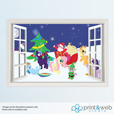 My Little Pony Christmas Window View Decal Wall Sticker Decor Home Art Mural