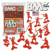BMC Classic Marx WW2 Russian Plastic Army Men - Red 36pc Figure Set