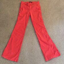 Anthropologie Level 99 Trouser Linen Wide Leg Pink Pants Size 26 Women