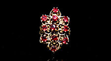 14k Gold and Garnet Ring; Size 7