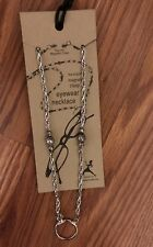 Silver-tone Eyewear Holder 11in Necklace With Magnetic Clasp