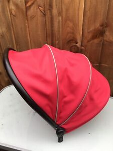iCandy Peach 3 Main Seat Hood / Canopy In Sherbet - Red With Black Frame