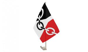 Quality Black Country Car Flag 11inch X 17inch