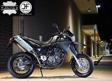 Puntada Negro Personalizado Se Ajusta Yamaha XT 660 X 04-17 Cubierta de asiento de cuero real