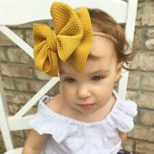 Baby Big Bow Stretch Turban Head Wrap Girls Knot Headband Nylon Hairband
