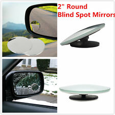 "2"" Round Stick On Rear-View Blind Spot Convex Wide Angle Mirrors Car Truck SUV"