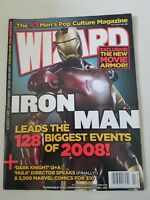 WIZARD Comics Magazine #196 February 2008 IRON MAN MARVEL MOVIE DARK KNIGHT!